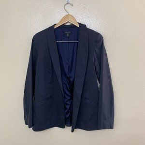 Eileen Fisher Bone Polished Ramie Jacket Navy $358